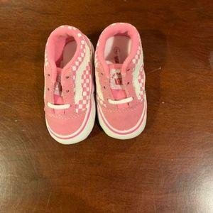 Baby Pink Vans-size 2-Brand new